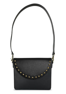 NemoRectangular-Body-Black-BandalHalf-moon-Flap-BlackStud-Shoulder-length-Strap-Black