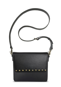 NemoRectangular-Body-Black-NemoRectangular-Flap-BlackStud-Cross-body-length-Strap-Black