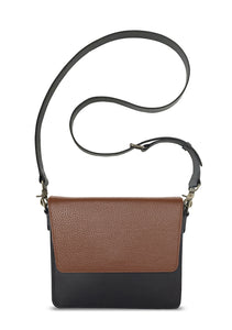 NemoRectangular-Body-Black-NemoRectangular-Flap-Brown-Cross-body-length-Strap-Black