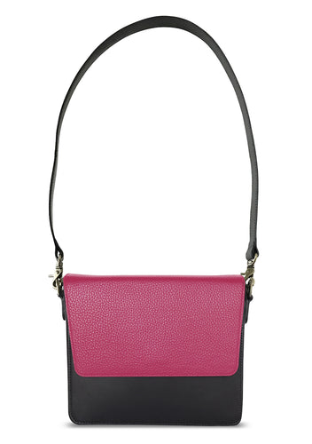 Black Rectangular Body with Hot Pink Rectangular Flap