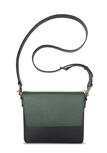 NemoRectangular-Body-Black-NemoRectangular-Flap-OliveGreen-Cross-body-length-Strap-Black