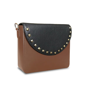 Brown with Black Studs in Mixed shape
