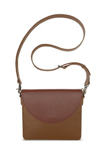 NemoRectangular-Body-Brown-BandalHalf-moon-Flap-Brown-Cross-body-length-Strap-Brown