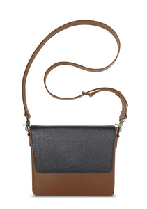 NemoRectangular-Body-Brown-NemoRectangular-Flap-Black-Cross-body-length-Strap-Brown