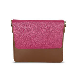 Brown with Hot Pink in Rectangular