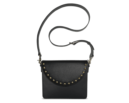 NemoRectangular-Body-Black-BandalHalf-moon-Flap-BlackStud-Crossbody-Strap-BlackStud