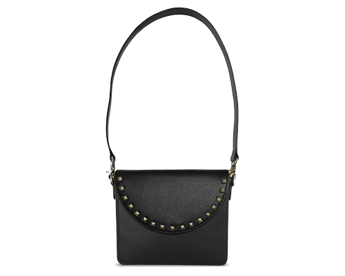 NemoRectangular-Body-Black-BandalHalf-moon-Flap-BlackStud-Shoulder-Strap-Black