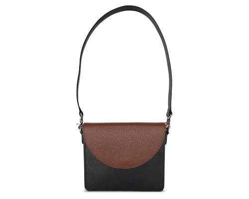 NemoRectangular-Body-Black-BandalHalf-moon-Flap-Brown-Shoulder-Strap-Black