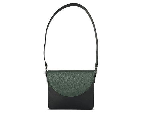 NemoRectangular-Body-Black-BandalHalf-moon-Flap-OliveGreen-Shoulder-Strap-Black