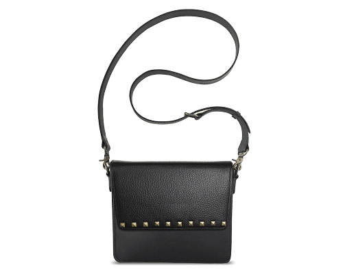 NemoRectangular-Body-Black-NemoRectangular-Flap-BlackStud-Crossbody-Strap-Black