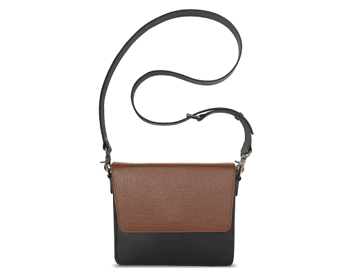 NemoRectangular-Body-Black-NemoRectangular-Flap-Brown-Crossbody-Strap-Black