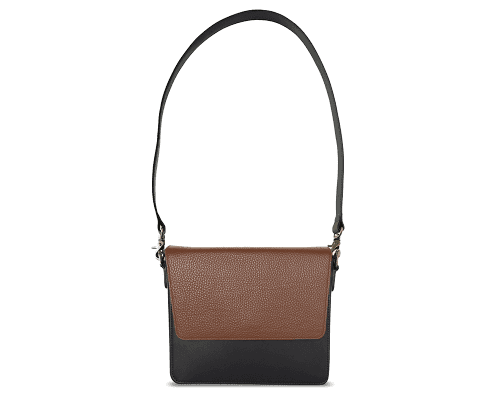 NemoRectangular-Body-Black-NemoRectangular-Flap-Brown-Shoulder-Strap-BlackStud