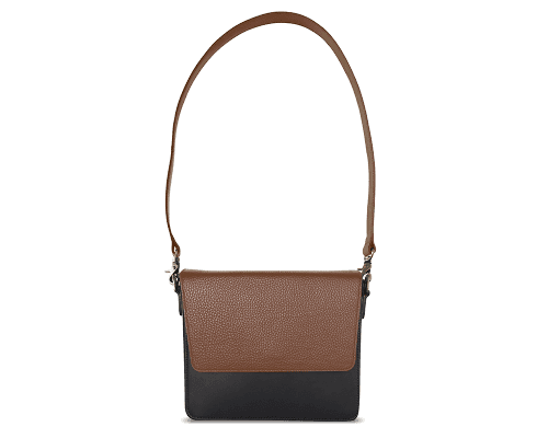 NemoRectangular-Body-Black-NemoRectangular-Flap-Brown-Shoulder-Strap-Brown