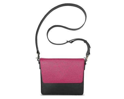 NemoRectangular-Body-Black-NemoRectangular-Flap-HotPink-Crossbody-Strap-Black