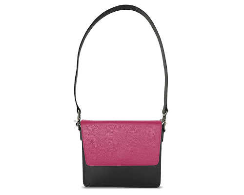 NemoRectangular-Body-Black-NemoRectangular-Flap-HotPink-Shoulder-Strap-BlackStud