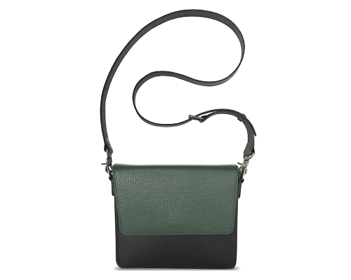 NemoRectangular-Body-Black-NemoRectangular-Flap-OliveGreen-Crossbody-Strap-Black
