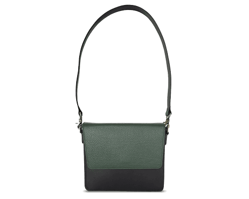 NemoRectangular-Body-Black-NemoRectangular-Flap-OliveGreen-Shoulder-Strap-BlackStud
