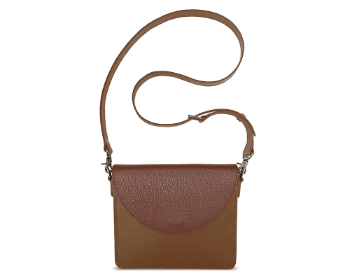 NemoRectangular-Body-Brown-BandalHalf-moon-Flap-Brown-Crossbody-Strap-Brown