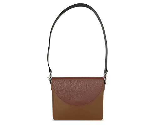 NemoRectangular-Body-Brown-BandalHalf-moon-Flap-Brown-Shoulder-Strap-BlackStud