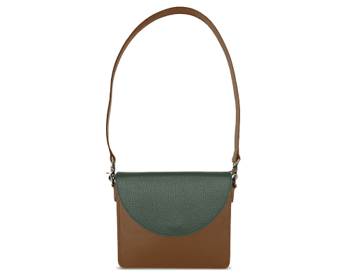 NemoRectangular-Body-Brown-BandalHalf-moon-Flap-OliveGreen-Shoulder-Strap-Brown