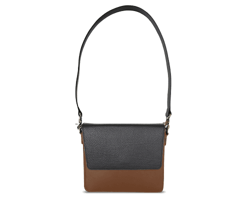 NemoRectangular-Body-Brown-NemoRectangular-Flap-Black-Shoulder-Strap-Black