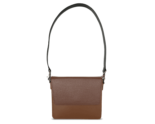 NemoRectangular-Body-Brown-NemoRectangular-Flap-Brown-Shoulder-Strap-BlackStud