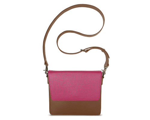 NemoRectangular-Body-Brown-NemoRectangular-Flap-HotPink-Crossbody-Strap-Brown