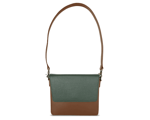 NemoRectangular-Body-Brown-NemoRectangular-Flap-OliveGreen-Shoulder-Strap-Brown