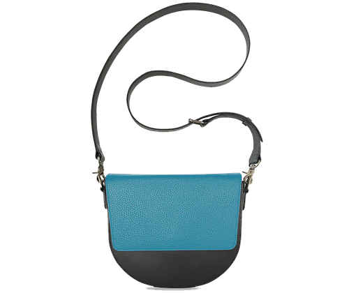 BandalHalf-moon-Body-Black-NemoRectangular-Flap-OceanBlue-Crossbody-Strap-Black