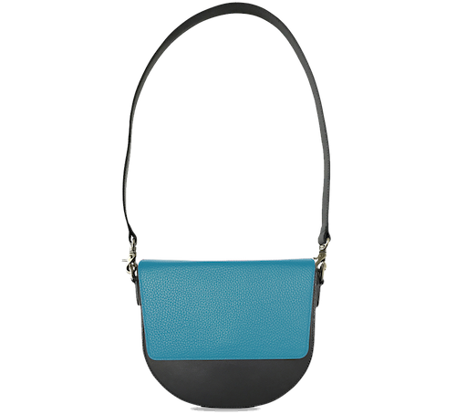 BandalHalf-moon-Body-Black-NemoRectangular-Flap-OceanBlue-Shoulder-Strap-BlackStud