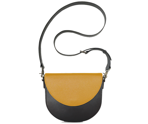 BandalHalf-moon-Body-Black-BandalHalf-moon-Flap-Yellow-Crossbody-Strap-Black
