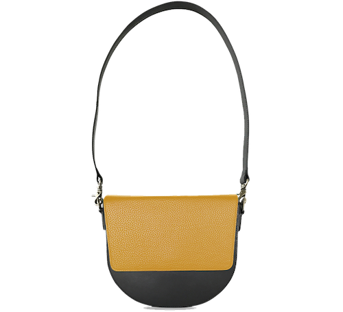 BandalHalf-moon-Body-Black-NemoRectangular-Flap-Yellow-Shoulder-Strap-BlackStud
