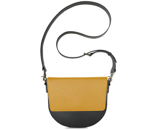 BandalHalf-moon-Body-Black-NemoRectangular-Flap-Yellow-Crossbody-Strap-Black