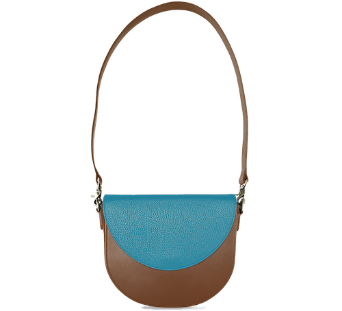 BandalHalf-moon-Body-Brown-BandalHalf-moon-Flap-OceanBlue-Shoulder-Strap-Brown