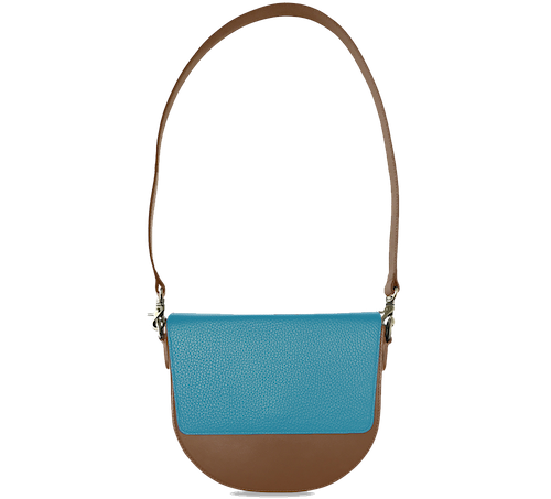 BandalHalf-moon-Body-Brown-NemoRectangular-Flap-OceanBlue-Shoulder-Strap-Brown