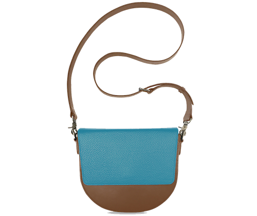 BandalHalf-moon-Body-Brown-NemoRectangular-Flap-OceanBlue-Crossbody-Strap-Brown