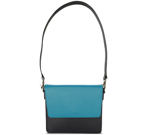NemoRectangular-Body-Black-NemoRectangular-Flap-OceanBlue-Shoulder-Strap-BlackStud
