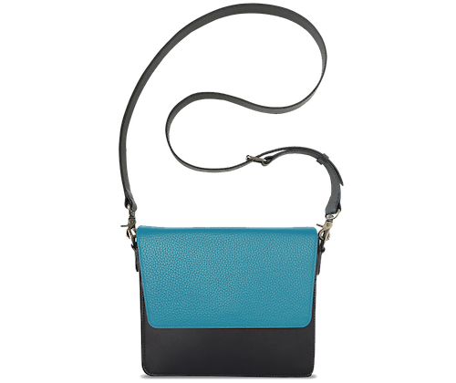 NemoRectangular-Body-Black-NemoRectangular-Flap-OceanBlue-Crossbody-Strap-BlackStud