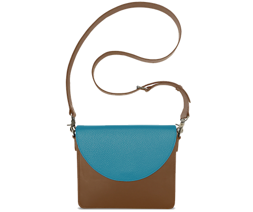 NemoRectangular-Body-Brown-BandalHalf-moon-Flap-OceanBlue-Crossbody-Strap-Brown