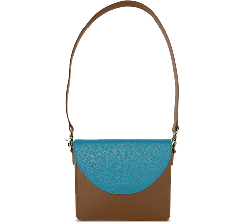 NemoRectangular-Body-Brown-BandalHalf-moon-Flap-OceanBlue-Shoulder-Strap-Brown