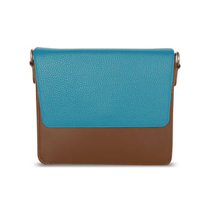 Brown Rectangular Body with Ocean Blue Rectangular Flap