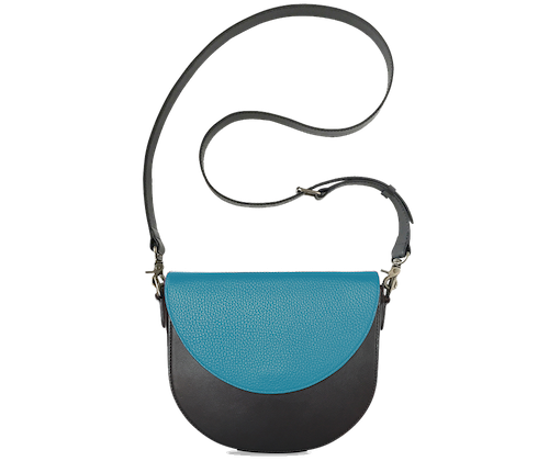 BandalHalf-moon-Body-Black-BandalHalf-moon-Flap-OceanBlue-Crossbody-Strap-Black
