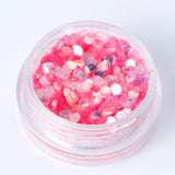 Iridescent Pink 2mm Disc Shape Cosmetic Glitter