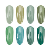 Gel Polish Green Colours