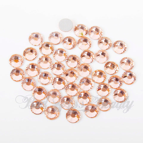 【Champagne】 Glass Rhinestone Face Gems 2mm-5mm