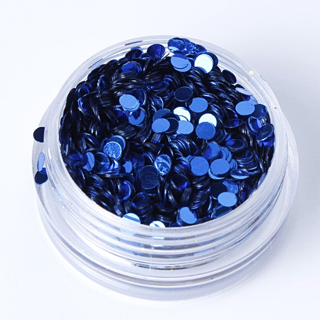 Metallic Royal Blue 2mm or 3mm Disc Shape Cosmetic Glitter