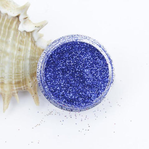 evol royal blue metallic dust face glitter pot