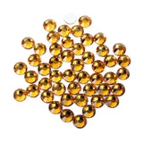 【Amber】 Glass Rhinestone Face Gems 2mm-5mm