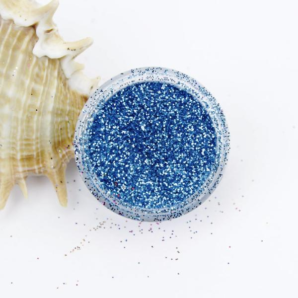evol brilliant blue metallic dust face glitter