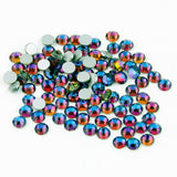 【Blue Flame】 Glass Rhinestone Face Gems 2mm-5mm